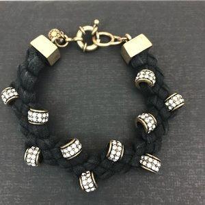 J. Crew Braided Cord Bracelet with Embellishments